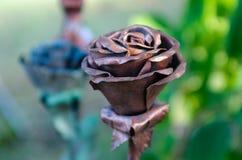 Σφυρηλατημένο λουλούδι μέταλλο Στοκ Εικόνες