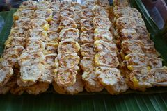 Σχάρα μπανανών, ταϊλανδικό επιδόρπιο Στοκ Φωτογραφίες