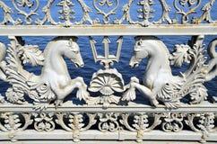 Σχάρα της γέφυρας Blagoveshchensky, Αγία Πετρούπολη, Στοκ εικόνες με δικαίωμα ελεύθερης χρήσης