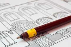 σχέδια αρχιτεκτονικής Στοκ φωτογραφία με δικαίωμα ελεύθερης χρήσης