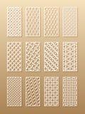 12 σχέδια λέιζερ για τους τοίχους δωματίων στο αραβικό ύφος Παραδοσιακή ασιατική διακόσμηση σε ένα ορθογώνιο για το σχέδιο του α διανυσματική απεικόνιση