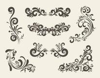 Σχέδια μπουκλών γραμμών Swirly στοκ εικόνες με δικαίωμα ελεύθερης χρήσης