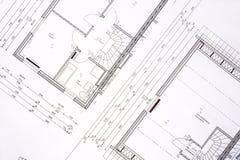 σχέδια οικογενειακών σπιτιών Στοκ φωτογραφία με δικαίωμα ελεύθερης χρήσης