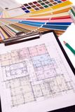 σχέδια σπιτιών σχεδιαγραμμάτων στοκ φωτογραφία με δικαίωμα ελεύθερης χρήσης