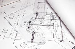 σχέδια σπιτιών Στοκ φωτογραφία με δικαίωμα ελεύθερης χρήσης