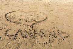 Σχέδια στην άμμο στην παραλία του Πουέρτο Ρίκο σε θλγραν θλθαναρηα, Ισπανία Στοκ φωτογραφίες με δικαίωμα ελεύθερης χρήσης