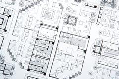 σχέδια s σχεδίων αρχιτεκτόνων Στοκ φωτογραφία με δικαίωμα ελεύθερης χρήσης