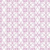 Σχέδιο άνευ ραφής των γραμμών floral μπουκλών διανυσματική απεικόνιση