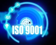 Σχέδιο έννοιας του ISO 9001 γραφικό διανυσματική απεικόνιση