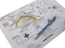 σχέδιο αεροπλάνων Στοκ φωτογραφία με δικαίωμα ελεύθερης χρήσης