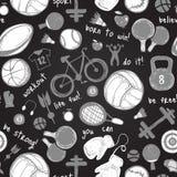 Σχέδιο αθλητικών σκίτσων συρμένο χέρι στοκ φωτογραφία