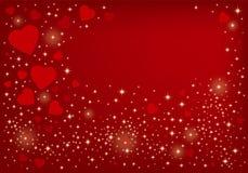 Σχέδιο ανασκόπησης καρδιών Στοκ Εικόνα