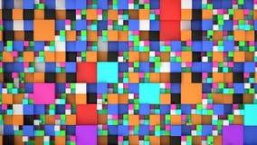 Σχέδιο από τους ζωηρόχρωμους κύβους των διαφορετικών μεγεθών Διανυσματική απεικόνιση