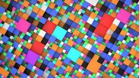 Σχέδιο από τους ζωηρόχρωμους κύβους των διαφορετικών μεγεθών Απεικόνιση αποθεμάτων