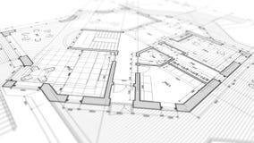 Σχέδιο αρχιτεκτονικής: σχέδιο σχεδιαγραμμάτων διανυσματική απεικόνιση