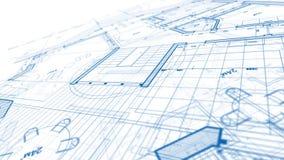 Σχέδιο αρχιτεκτονικής: σχέδιο σχεδιαγραμμάτων ελεύθερη απεικόνιση δικαιώματος