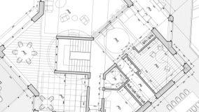 Σχέδιο αρχιτεκτονικής: σχέδιο σχεδιαγραμμάτων απόθεμα βίντεο