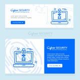 Σχέδιο ασφάλειας Cyber με το δημιουργικό σχέδιο και το λογότυπο Στοκ φωτογραφία με δικαίωμα ελεύθερης χρήσης