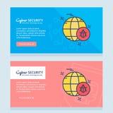 Σχέδιο ασφάλειας Cyber με το δημιουργικό σχέδιο Στοκ Φωτογραφία