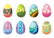 Σχέδιο αυγών Πάσχας στο άσπρο υπόβαθρο ελεύθερη απεικόνιση δικαιώματος