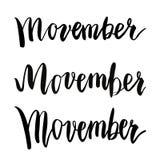 Σχέδιο αφισών γεγονότος συνειδητοποίησης καρκίνου Movember Στοκ Εικόνες