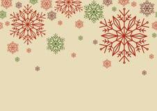 Σχέδιο αφισών για τα Χριστούγεννα, το νέα έτος ή τη χειμερινή εποχή στο απλό επίπεδο ύφος με το κενό διάστημα για το κείμενο σχέδ Στοκ φωτογραφία με δικαίωμα ελεύθερης χρήσης