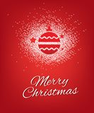 Σχέδιο αφισών χαιρετισμών Χαρούμενα Χριστούγεννας Στοκ Εικόνες