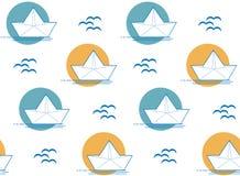 Σχέδιο βαρκών ή σκαφών εγγράφου Origami Στοκ Φωτογραφίες