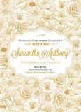 Σχέδιο γαμήλιας πρόσκλησης Στοκ φωτογραφίες με δικαίωμα ελεύθερης χρήσης