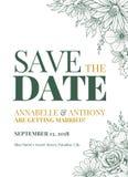 Σχέδιο γαμήλιας πρόσκλησης Στοκ Εικόνα