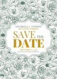 Σχέδιο γαμήλιας πρόσκλησης Στοκ Εικόνες