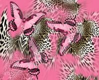 Σχέδιο δερμάτων λεοπαρδάλεων πεταλούδων διανυσματική απεικόνιση