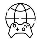 Σχέδιο εικονιδίων παγκόσμιων λογότυπων παιχνιδιών διανυσματική απεικόνιση