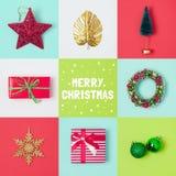 Σχέδιο εμβλημάτων διακοπών Χριστουγέννων Στοκ Εικόνες