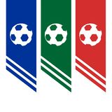 Σχέδιο εμβλημάτων ποδοσφαίρου Στοκ φωτογραφίες με δικαίωμα ελεύθερης χρήσης
