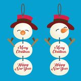 Σχέδιο εμβλημάτων Χριστουγέννων Στοκ εικόνα με δικαίωμα ελεύθερης χρήσης