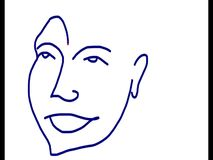 Σχέδιο ενός ασιατικού ασιατικού αρσενικού χαμόγελου διανυσματική απεικόνιση
