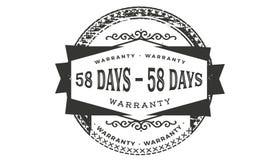 σχέδιο εξουσιοδότησης 58 ημερών, καλύτερο μαύρο γραμματόσημο απεικόνιση αποθεμάτων