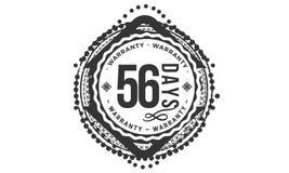 σχέδιο εξουσιοδότησης 56 ημερών, καλύτερο μαύρο γραμματόσημο διανυσματική απεικόνιση