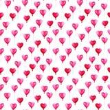 Σχέδιο ημέρας βαλεντίνων του ST Watercolor Ρομαντικά ρόδινα μπαλόνια στις καρδιές μορφής Για την κάρτα, το σχέδιο, την τυπωμένη ύ Στοκ Εικόνες
