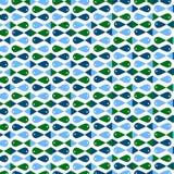 Σχέδιο θάλασσας στο όμορφο σχέδιο μωσαϊκών Στοκ Εικόνες