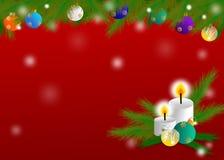 Σχέδιο θέματος Χριστουγέννων για τη ευχετήρια κάρτα Στοκ εικόνες με δικαίωμα ελεύθερης χρήσης