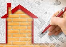 Σχέδιο θερμικής μόνωσης των παλαιών κτηρίων για να βελτιώσει τη ενεργειακή αποδοτικότητα και να μειώσει τις θερμικές απώλειες - τ απεικόνιση αποθεμάτων
