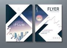 Σχέδιο ιπτάμενων φυλλάδιων ετήσια εκθέσεων, παρουσίαση κάλυψης φυλλάδιων Στοκ Φωτογραφία