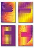 Σχέδιο κάλυψης για το φυλλάδιο Αφηρημένη, γεωμετρική απεικόνιση διανυσματική απεικόνιση