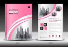 Σχέδιο κάλυψης ετήσια εκθέσεων, πρότυπο ιπτάμενων φυλλάδιων, επιχειρησιακή διαφήμιση, σχεδιάγραμμα επιχείρησης ελεύθερη απεικόνιση δικαιώματος