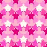 Σχέδιο κάλυψης με τα ρόδινα αστέρια στοκ εικόνες