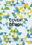 Σχέδιο κάλυψης τριγώνων Πρότυπο για την επιχείρηση Broshure, βιβλίο κάλυψης, ιπτάμενο, κάρτα απεικόνιση αποθεμάτων