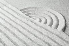 Σχέδιο κήπων της Zen στην άμμο περισυλλογή στοκ εικόνες με δικαίωμα ελεύθερης χρήσης