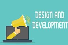 Σχέδιο και ανάπτυξη κειμένων γραφής Έννοια που σημαίνει καθορίζοντας την προδιαγραφή των προϊόντων και των υπηρεσιών απεικόνιση αποθεμάτων